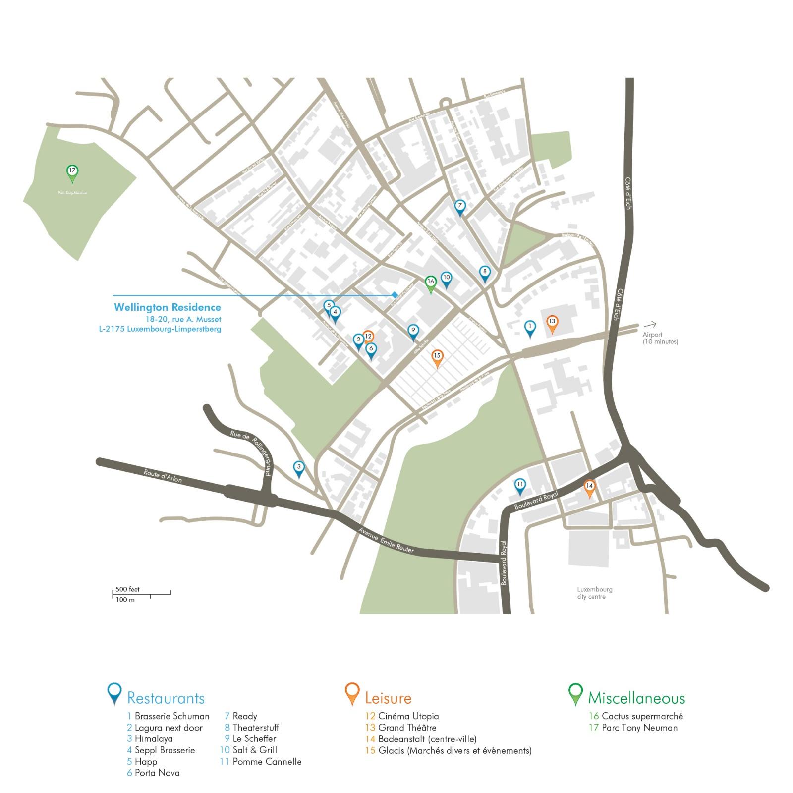 Situation premium residences luxembourg for Badanstalt piscine luxembourg